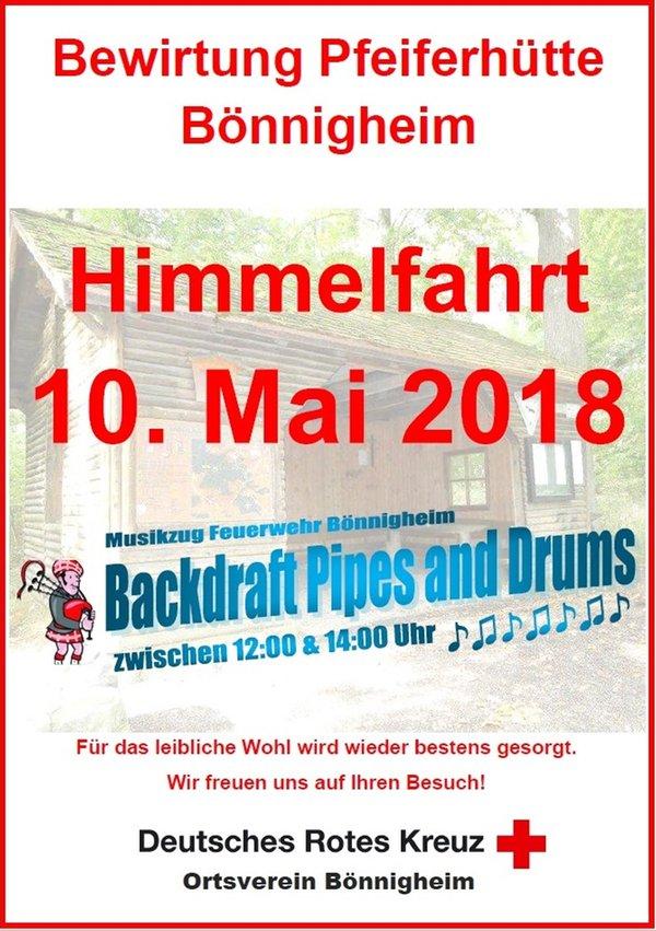 Mai 2018 wird die Pfeiferhütte im Bönnigheimer Wald ab 10.00 Uhr  traditionell wieder vom DRK Ortsverein Bönnigheim bewirtschaftet. 7543a13cd7